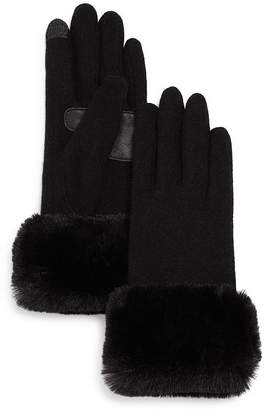 Echo Faux-Fur Cuff Tech Gloves - 100% Exclusive