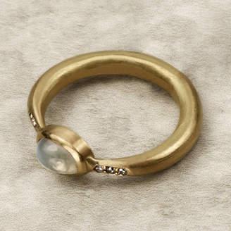 Farah Qureshi Gold Moonstone And Diamond Ring