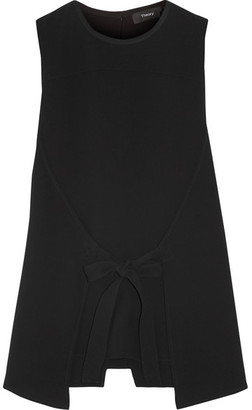 Theory - Layered Crepe Top - Black $255 thestylecure.com