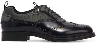 Prada Brushed Leather & Bike Derby Shoes