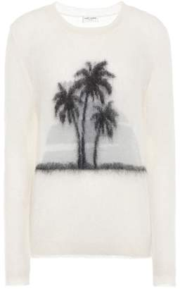 Saint Laurent Sunset mohair-blend sweater