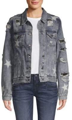 Miss Me Destroyed Denim Jacket