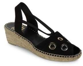 Andre Assous Delicate Grommet Accented Leather Espadrilles Slingback Sandals $169 thestylecure.com