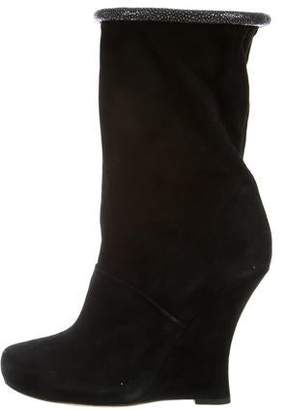 Tabitha Simmons Suede Embellished Ankle Boots