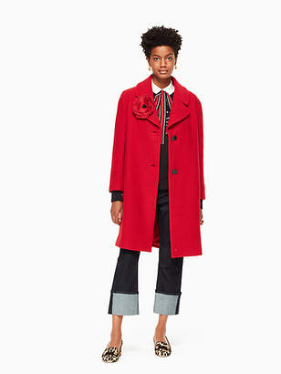 Kate Spade Wool boucle poppy coat