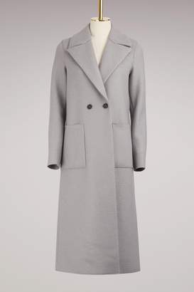 Harris Wharf London Boxy Duster Coat Pressed Wool