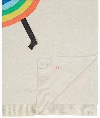 The Bonnie Mob Kids' Rainbow Intarsia Organic Cotton Baby Blanket