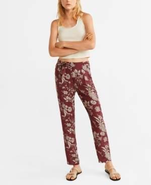 MANGO Flowy Printed Trousers