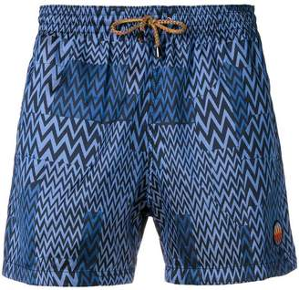 Missoni zig-zag print swimming shorts