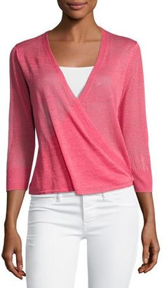 NIC+ZOE 4-Way 3/4-Sleeve Cardigan, Pink $98 thestylecure.com