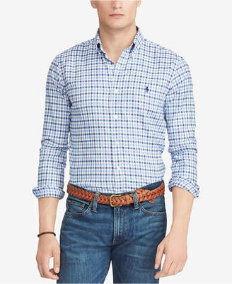 Polo Ralph Lauren Men's Big & Tall Classic-Fit Plaid Performance Oxford Shirt