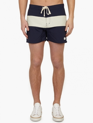 Saturdays Surf NYC Navy 'Grant' Board Shorts $63 thestylecure.com