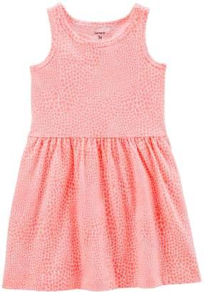 Carter's Toddler Girl Print Shirred Tank Dress