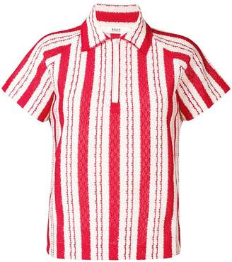Bally striped woven polo shirt