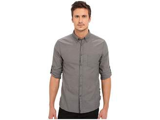 John Varvatos Roll Up Sleeve Shirt w/ Button-Down Collar Single Pocket
