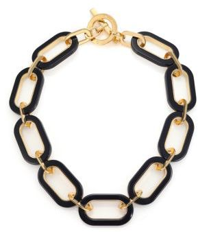 Michael Kors Colorblock Link Necklace $225 thestylecure.com