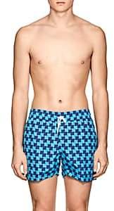 Trunks Frescobol Carioca Men's Prainha Wave-Print Swim Blue