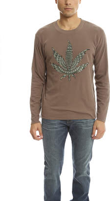 Lucien Pellat-Finet Embroidered Leaf Tee