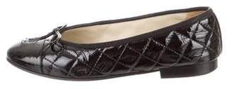 Chanel Quilted CC Flats
