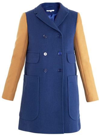 Carven Textured double-breasted coat