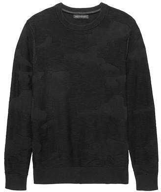 Banana Republic JAPAN ONLINE EXCLUSIVE Cotton Camouflage Crew-Neck Sweater