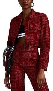 Alexander Wang Women's Abstract-Houndstooth Cotton-Blend Tweed Jacket