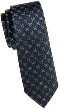 Burberry Abstract Flower Silk Tie