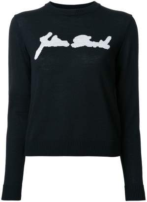 Julien David intarsia detail jumper