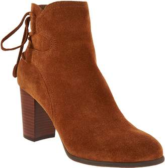 Vionic Suede Ankle Boots with Tie Detail - Ronnie