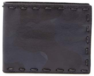 John Varvatos Marble Stained Leather Bifold Wallet