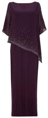 Wallis Purple Embellished Asymmetric Maxi Dress