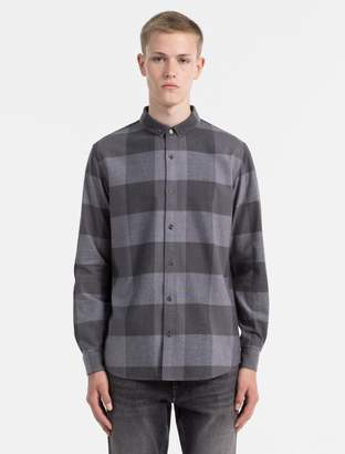 Calvin Klein slim fit flannel check long sleeve shirt
