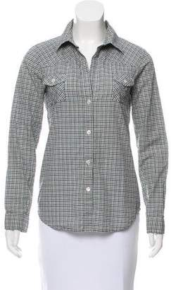 Elizabeth and James Checkered Long Sleeve Top