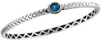 Effy 18K Yellow Gold & Sterling Silver Blue Topaz Bangle
