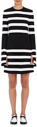 Calvin Klein Women's Kadence Striped Long-Sleeve Shift Dress $895 thestylecure.com