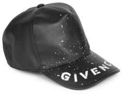 Givenchy Leather Logo Baseball Cap