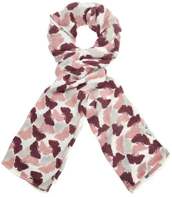 Dorothy Perkins Wine butterfly knitted scarf