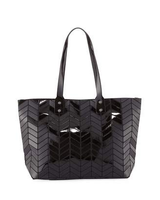 Patrizia Luca Chevron-Patterned Geo Tote Bag