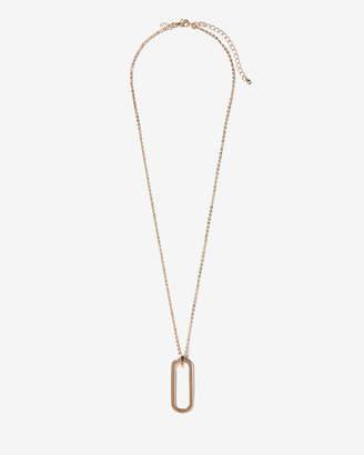 Express Rectangle Link Pendant Necklace