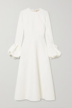 Roksanda Ruffled Crepe Midi Dress - Ivory