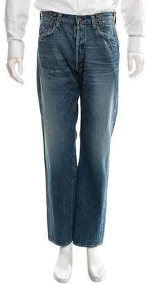 Human Made Light Wash Straight-Leg Jeans