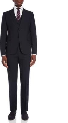 Armani Collezioni Navy 3-Piece M Line Wool Suit