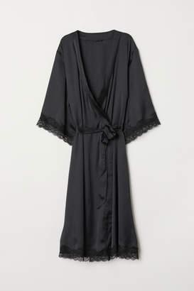 H&M Kimono with Lace - Black