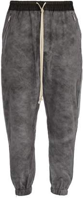 Rick Owens - Silk Organza Padded Track Pants - Mens - Black