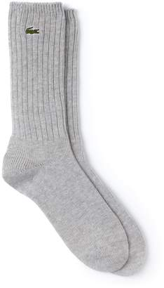 Lacoste Men's Ribbed Stretch Cotton Socks