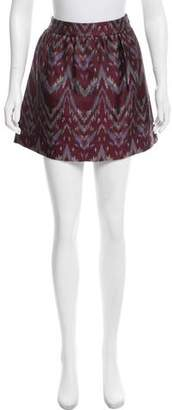 Gryphon Jacquard Chevron Skirt