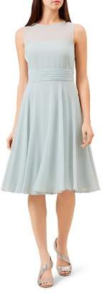 Hobbs London Ashling Pleated A-Line Dress