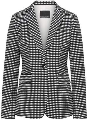 Banana Republic Petite Long and Lean-Fit Bi-Stretch Gingham Blazer