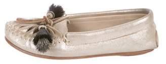 Loeffler Randall Metallic Suede Loafers Metallic Metallic Suede Loafers