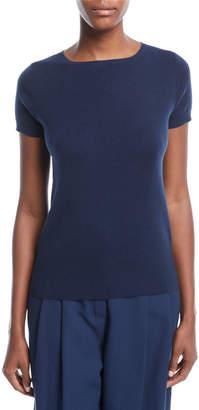 Loro Piana Button-Back Cashmere Top